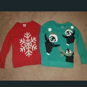 Lot of 2 Justice Holiday Sweaters🎅🏽🎄❄️